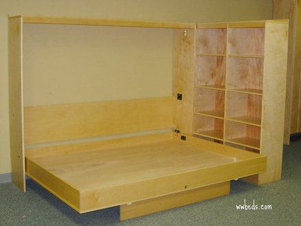 Murphy bed and room divider. Maybe for my craft/office area. Drop leaf desk on u