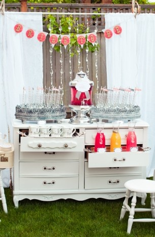 Mimosa Bar at Bridal Shower