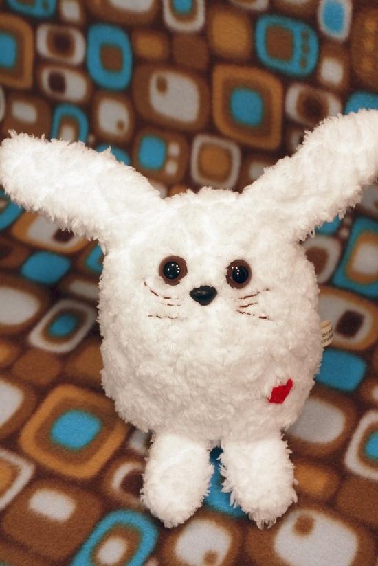 Stuffed bunny. Esty.