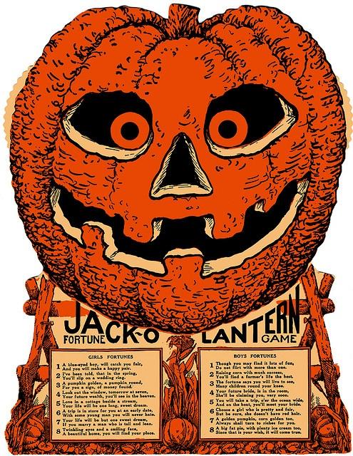 Vintage jack-o-lantern fortune game