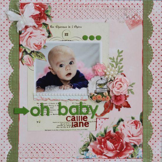 Oh Baby - C'est Magnifique July Kit - Scrapbook.com