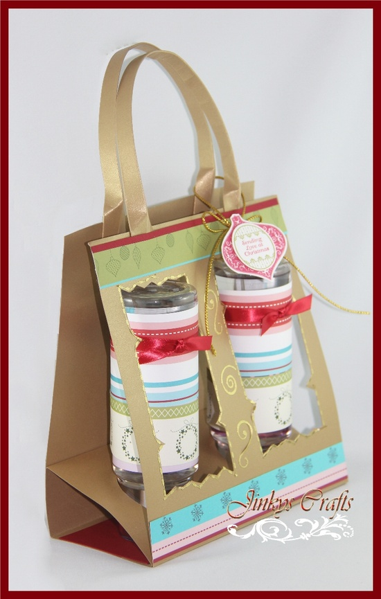 Cloth, Paper Crafts and More...: Window Christmas Tote Bag