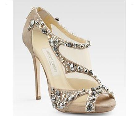 Unique glittery bridal shoes