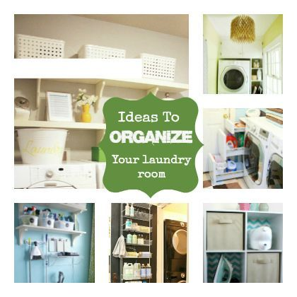 Stop Spinning: Ideas to Organize the Laundry Room @Cindy Hopper