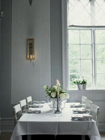simple white dining