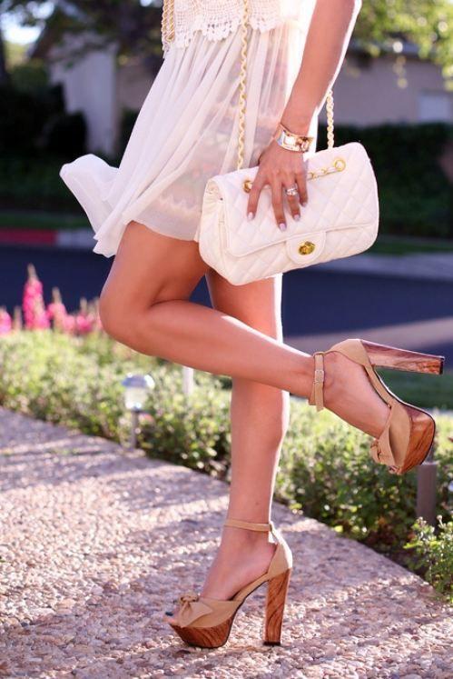 Love the heels..