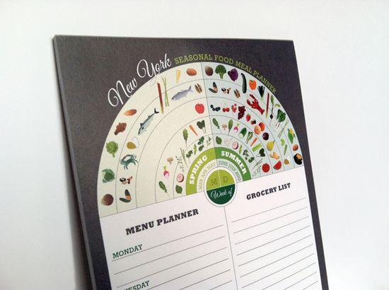 Health Guides &Seasonal Food Calendars by Jessica Haas, via Behance