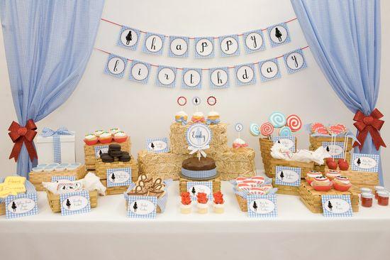 Wizard of OZ birthday party dessert table. #birthday #party #dessert