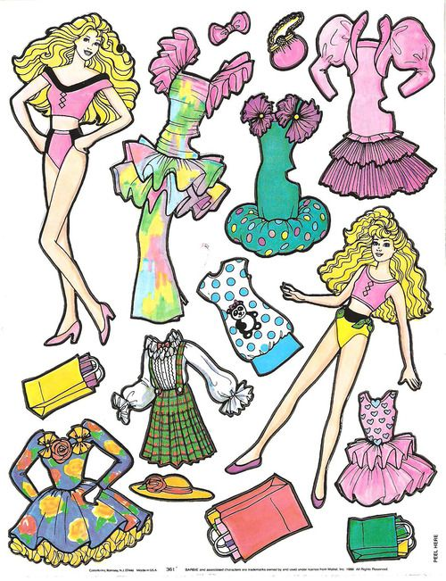 Though not these exact ones, I remember having paper dolls in the 80s, too. #Barbie #vintage #retro #toys #nostalgia #1980s