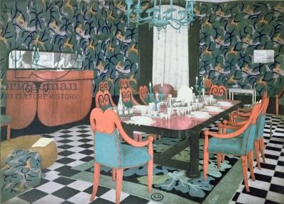 Dining room designed by Atelier Martine, 1924