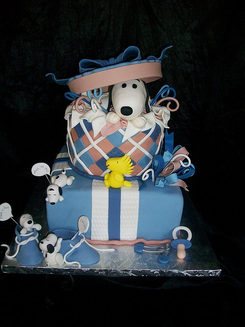 Snoopy Baby Shower Cake-love this cake!