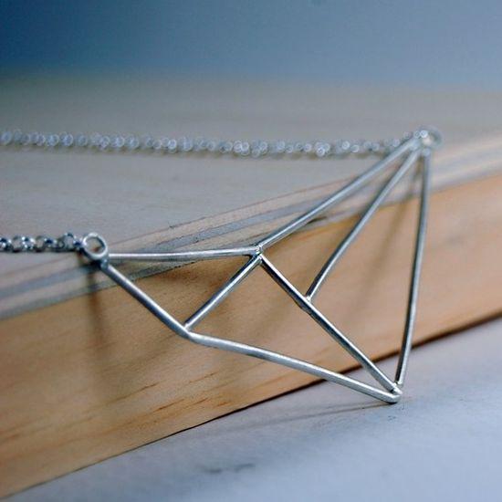 Geometric Necklace #etsy #necklace #jewellery #fashion
