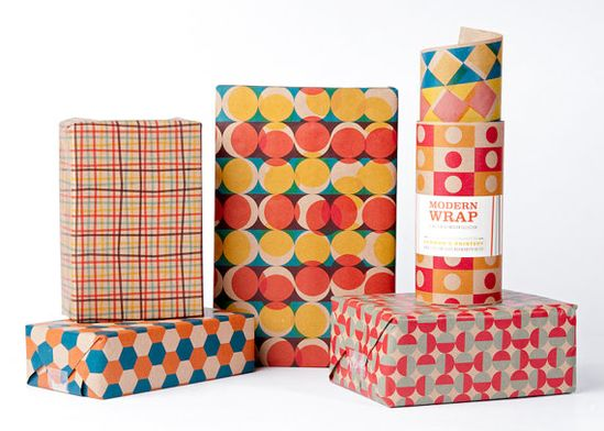 Mid-Century Modern Wrapping Paper / 12 Sheets £8