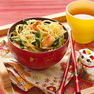 Chicken Cow Mein This Asian-inspired dinner recipe is the perfect way to combine meat and vegetables in one dish.