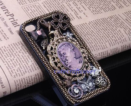 Smart phone case cute cameo