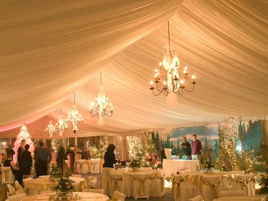 Beautiful tent wedding!
