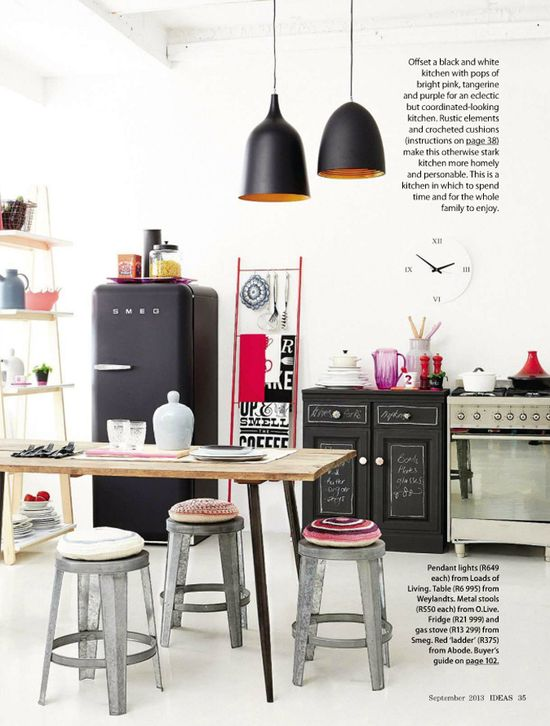 A kitchen that's cool and crafty.