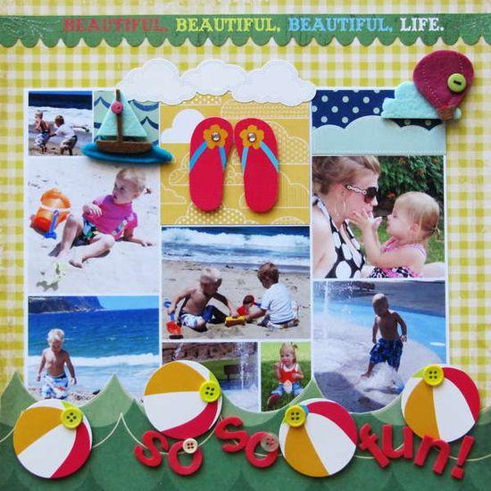 summer beach layout