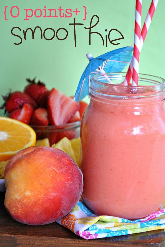 The ultimate skinny smoothie!! Fabulous taste, tons of variations, inexpensive, easy to make, and contains two servings of fruit and one serving of water!