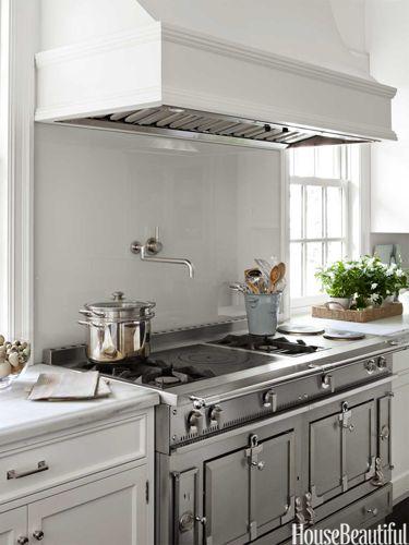 Kitchen of the Month, June 2012. Design: Samantha Lyman. Photo: Lisa Romerein. housebeautiful.com. #kitchen #white #range #french_range