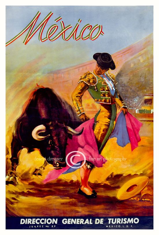 #Vintage #Travel to #Mexico poster art