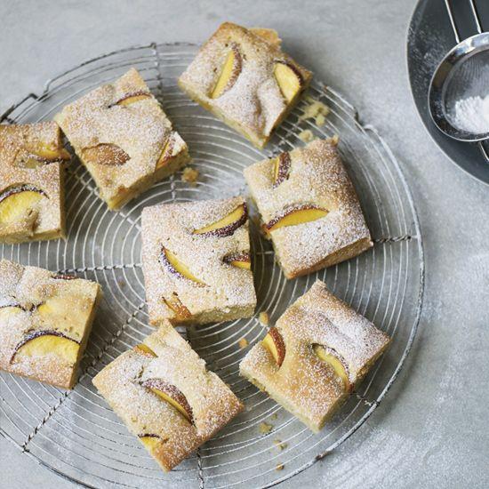 Sweet Peach Olive Oil Cake // More Amazing Summer Desserts: www.foodandwine.c... #foodandwine