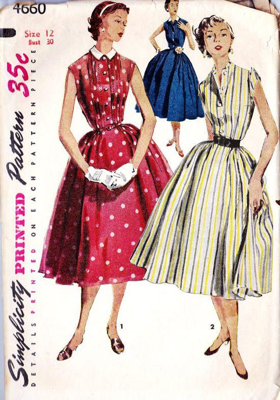 1950s Misses Dress Vintage