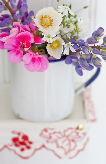 Fresh flowers on the shelf by MayaLee Photography, via Flickr