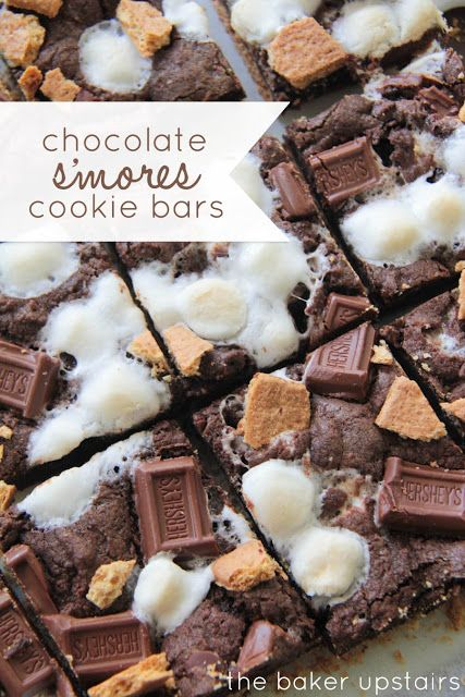 the baker upstairs: chocolate s'mores cookie bars