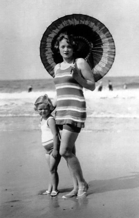 Marlene Dietrich et sa fille, Maria