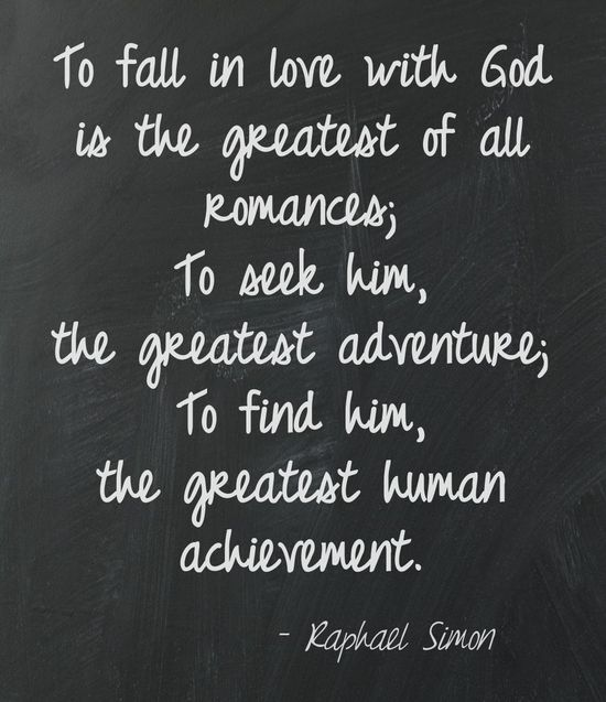 Messed Up Life Quotes: Awesome Inspiration Quotes: To Fall In Love With God Is