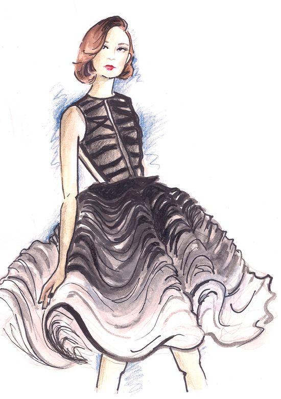 dior fashion illustration