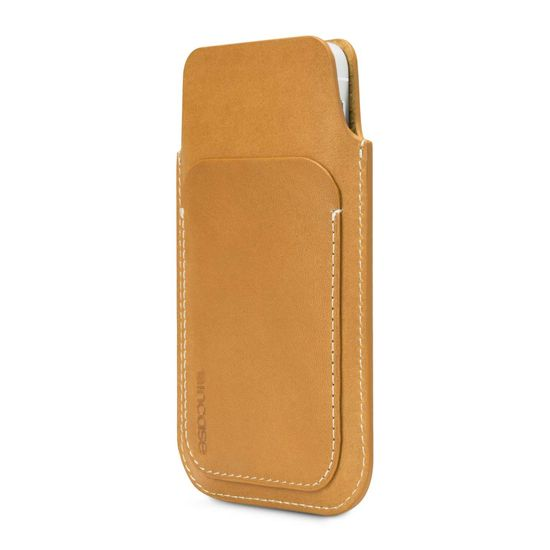 Carry the essentials and keep your iPhone protected in a premium full grain Leather Pouch.