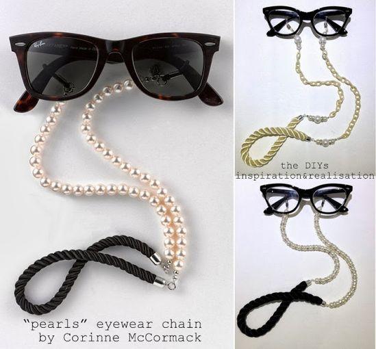 inspiration and realisation: DIY fashion blog: DIY pearls eyewear chain