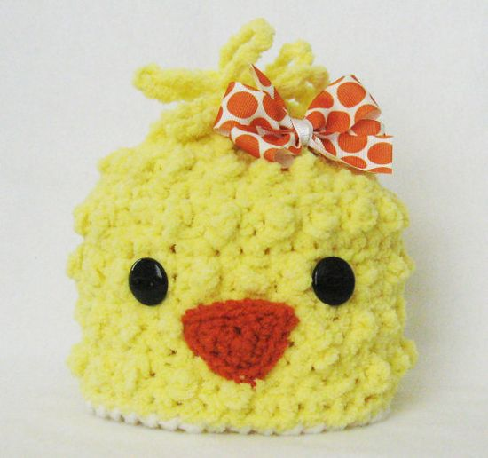 Spring Chick Beanie ~ love the bow