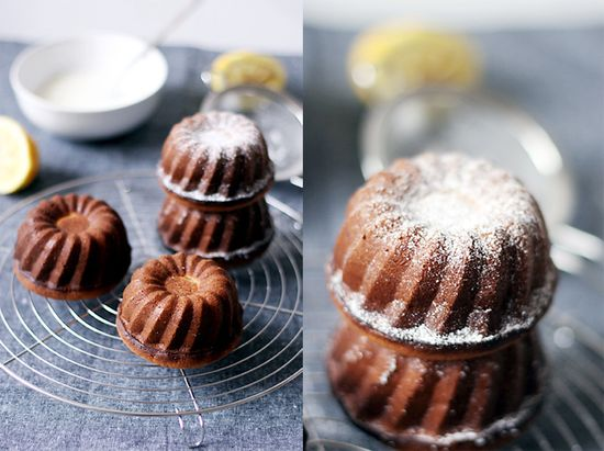 lemon yogurt mini bundt cakes