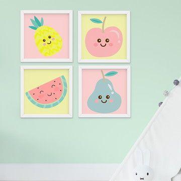 Quadro Decoração Quarto Bebê Infantil Menina Frutas no Elo7 | Bebê World (E64F69)