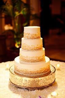 wedding cake #gold