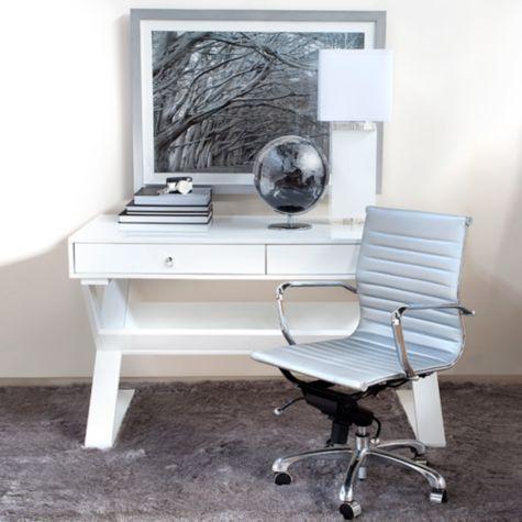 Jett Desk - White Lacquer from Z Gallerie