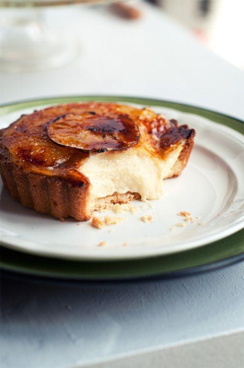 pear vanilla bean brulee tarts + pear crisp