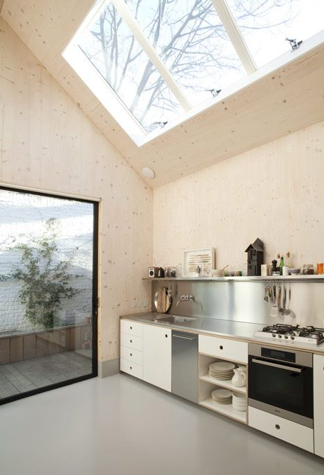 kitchen: plywood + light (Gingerbread House by Laura Dewe Mathews)
