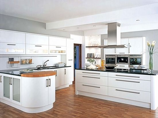 Fresh-White-modern Kitchen-Design-