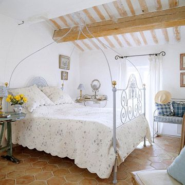 Old World Style in a White Bedroom