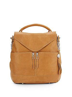 Olivia Harris by Joy Gryson Leather Hobo Handbag