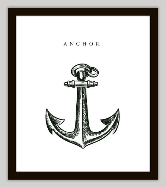 Anchor #Nautical Home #Decoration Wall #Art by PrintsofBeauty on @Etsy, ON SALE! $7.00
