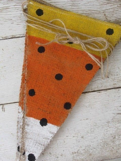 candy corn banner - O M G - i love candy corn decorations for fall!!!!!! so making these... these would be adorable on my front porch!