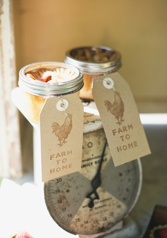 Farm to Home inspired wedding favors. Love. Love. This entire shoot! Photography by sarahmckenziephot..., Favors by tinypies.com