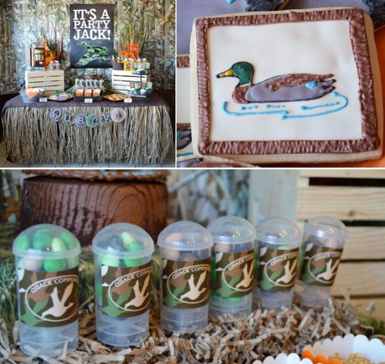 Duck Dynasty Themed birthday party via Karas Party Ideas KarasPartyIdeas.com #duck #dynasty #show #themed #party #food #decor #ideas #cake #idea
