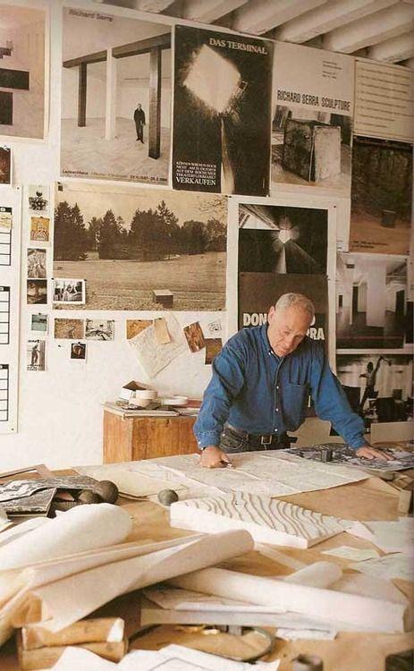 Richard Serra working