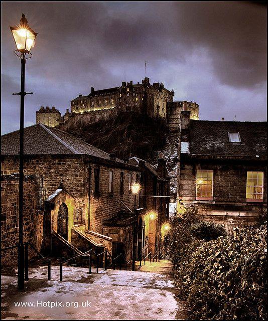 Edinburgh Castle, Scotland at Dusk